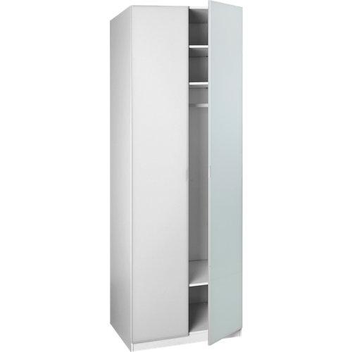 Puerta abatible armario botero blanco de 40x228.6 cm