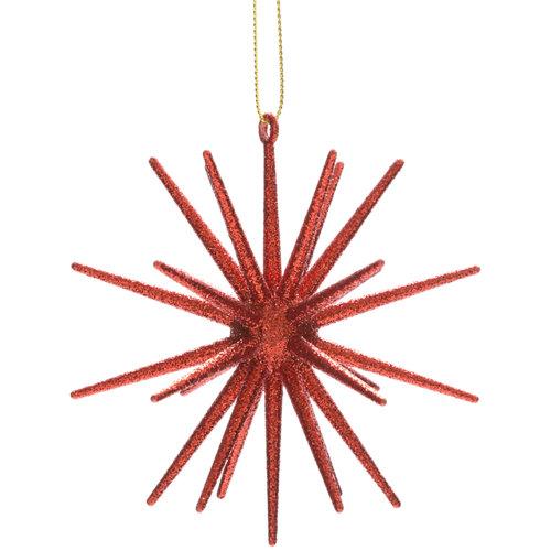 Figura de navidad colgante flor 10,2 cm