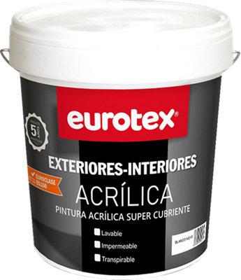 Pintura Exterior/Interior EUROTEX Acrílica blanco 4L