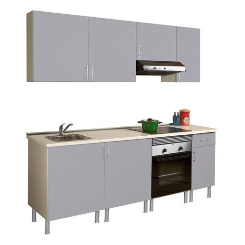 Composición de cocina basic gris 2,20 m