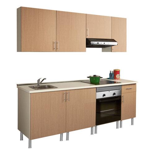 Composición de cocina basic roble 2,20 m
