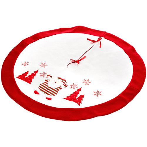 Pie de árbol decorativo rojo y blanco 90 cm