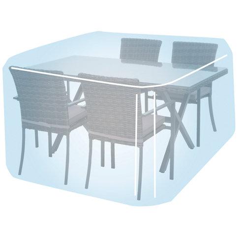 Funda de protección para mesa y sillas de poliéster 173x215x89 cm