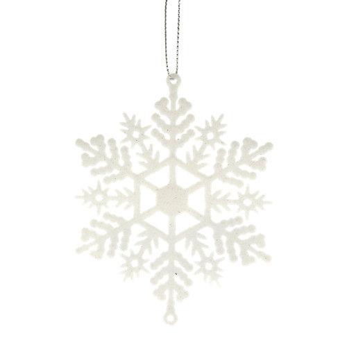 Set 8 adornos de copo de nieve 9 cm