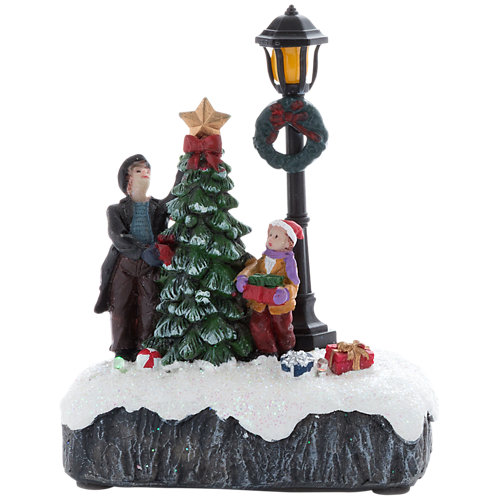 Adorno ciudad de navidad led 12 cm
