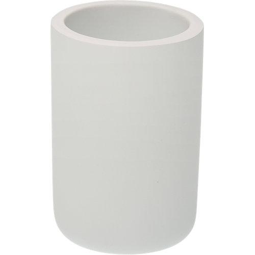 Vaso de baño polinesia blanco mate