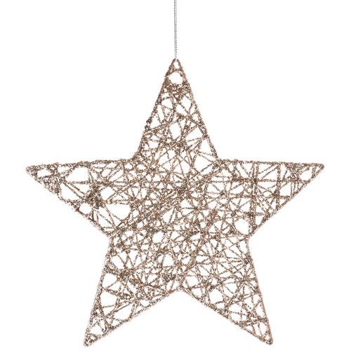 Figura de navidad estrella colgante 20 cm