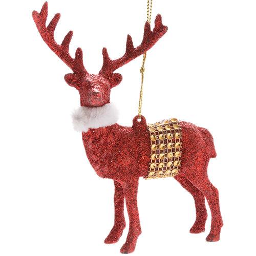 Figura de navidad colgante reno 14 cm