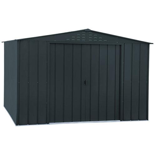 Caseta de metal top shed 10x8 de 321.8x209.5x243.3 cm y 7.84 m2