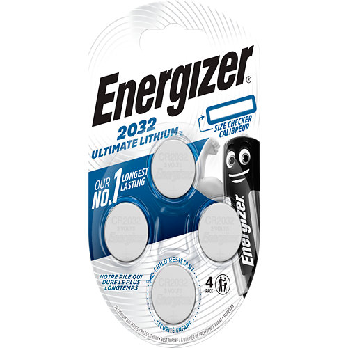Pack de 4 pilas de litio energizer cr2032