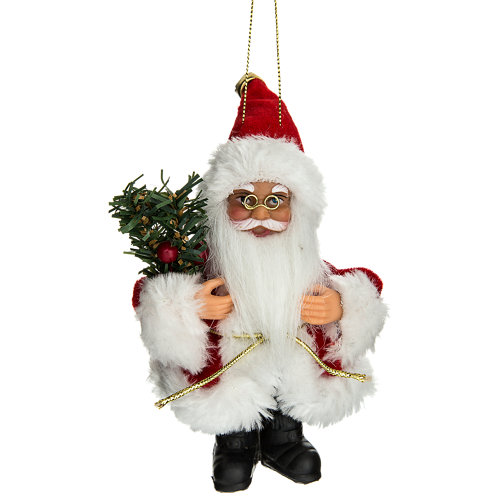 Figura de navidad colgante santa claus rojo 13 cm