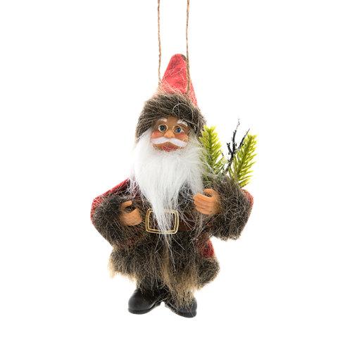 Adorno navideño colgante papá noel 13 cm
