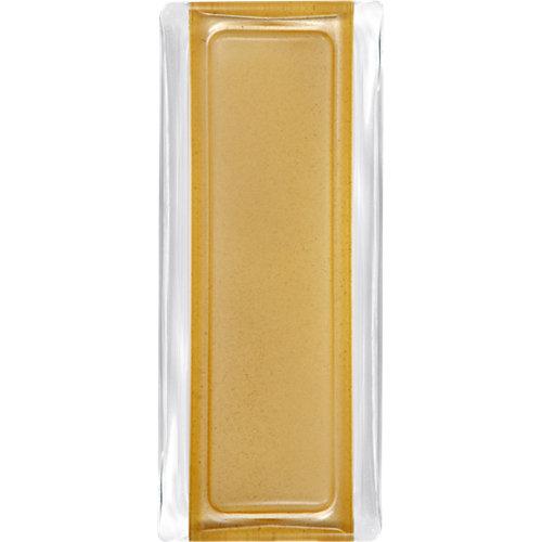 Perfil remate de vidrio liso oro 9x19x1,42 cm