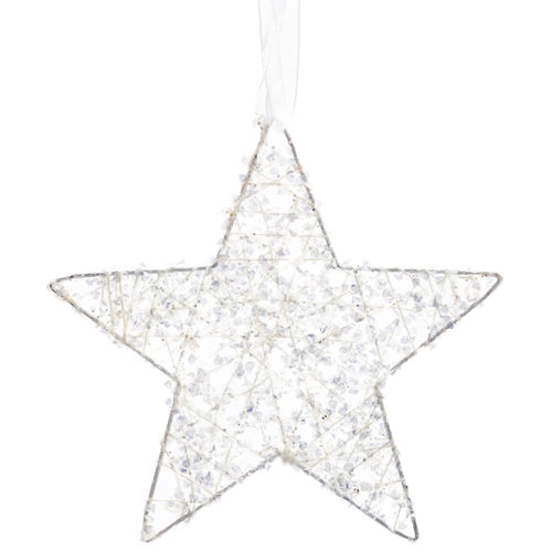 Adorno colgante estrella 15 cm