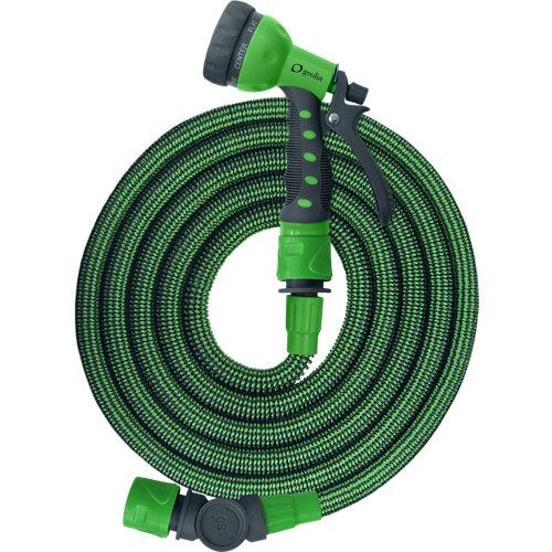 Manguera extensible g-2 geolia 25 m poliéster tricotado dacron® 10 mm ø + cesta