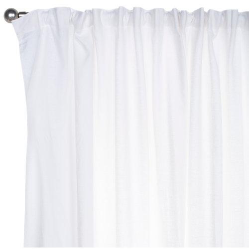 Cortina alma con motivo liso blanco de 265 x 200 cm