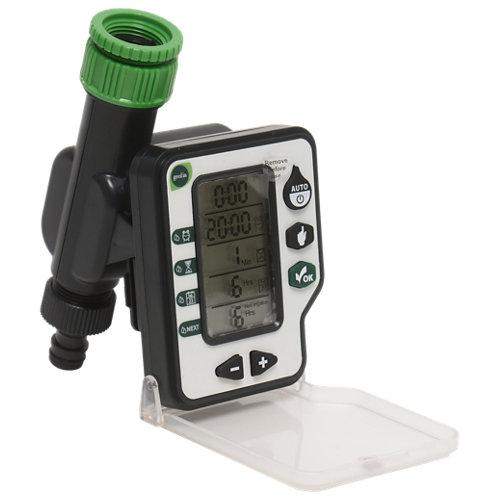 Programador de riego digital geolia de 1 vía con entrada de sensor de lluvia