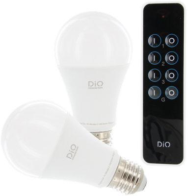 Pack 2 bombillas LED inteligentes DiO + mando