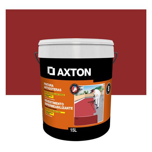 Pintura antigoteras axton 15l rojo