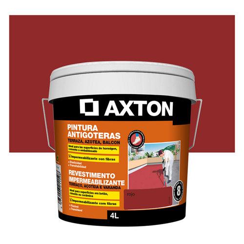 Pintura antigoteras axton 4l rojo