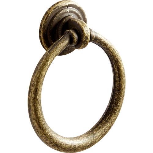 Pack 2 pomos ring latonado 45 mm