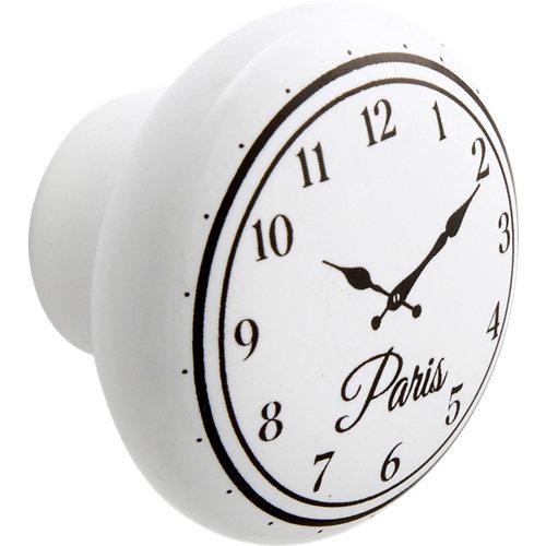 Pack 2 pomos clock ceramic blanco 40 mm