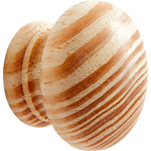 Pomo de madera de pino crudo 40 mm