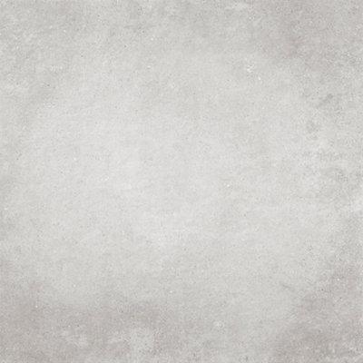 Baldosa de 75x75 cm en color gris / plata