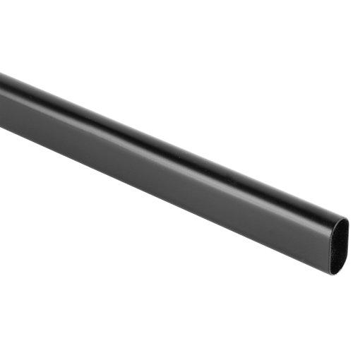 Barra armario ovalada de 1 m de largo y 30 x 15 mm ø