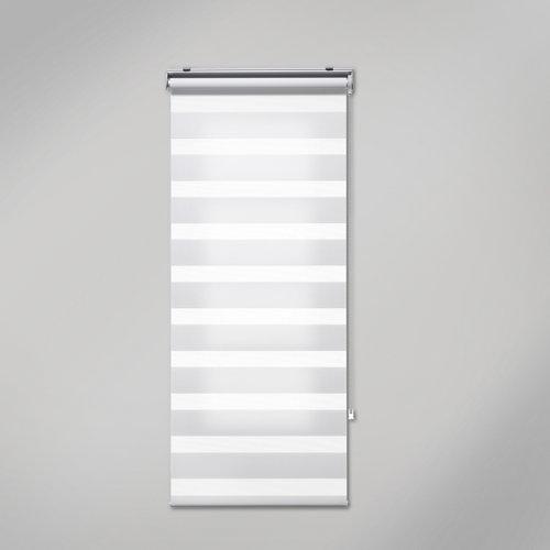 Estor enrollable noche/día quebec blanco inspire de 105x250cm