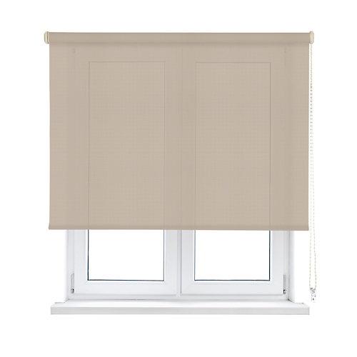 Estor enrollable translúcido screen beige inspire de 75x250cm