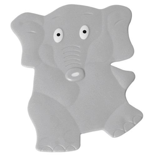 Figuras antideslizantes pvc con ventosas elefants gris 10,5x14 cm