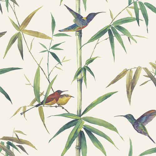 Papel pintado tradicional floral global