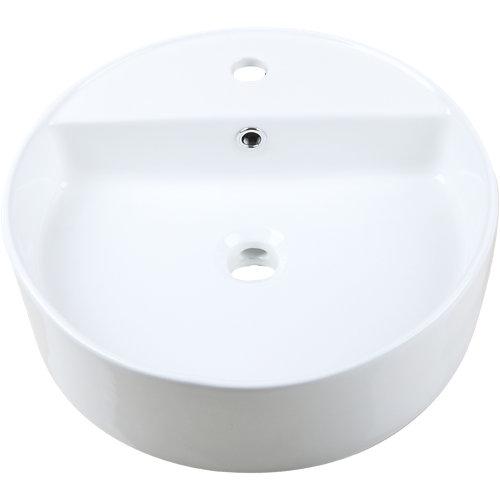 Lavabo easca blanco 45x14.5x45 cm