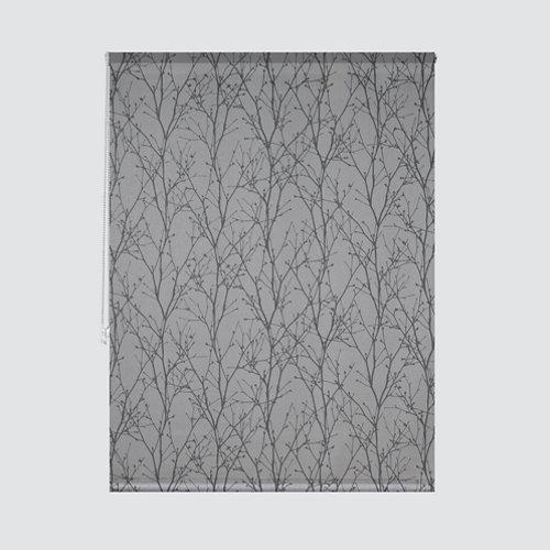 Estor enrollable ramas gris de 165x235cm