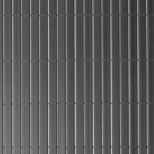 Cañizo pvc gris oscuro doble naterial 90% ocultación 2x5 m