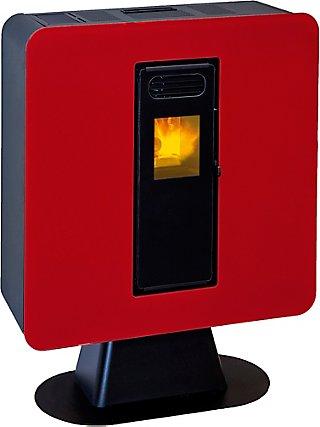 Estufa De Pellet Eider Biomasa Pasillo 5 5 6 Kw Rojo Leroy Merlin
