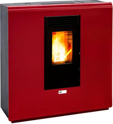 Estufa De Pellet Eider Biomasa Pasillo 8 8 02 Kw Rojo Leroy Merlin