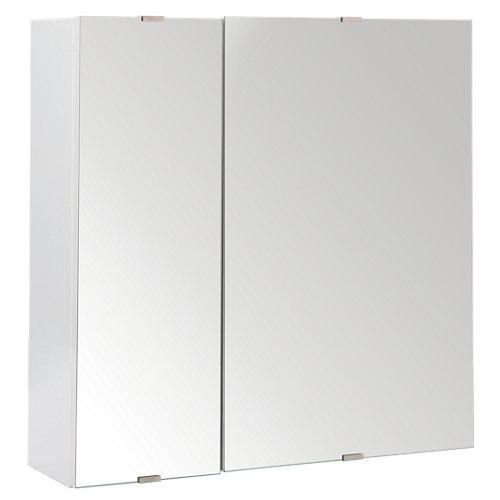 Armario de baño con espejo essential blanco 58x58x17 cm