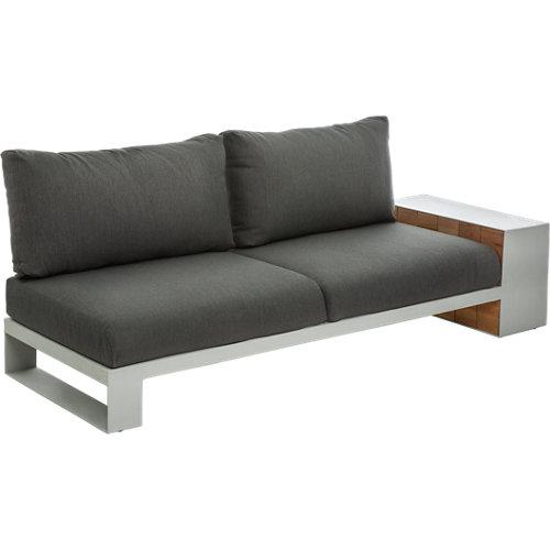 Banco/sofá de exterior de madera mantra gris izq