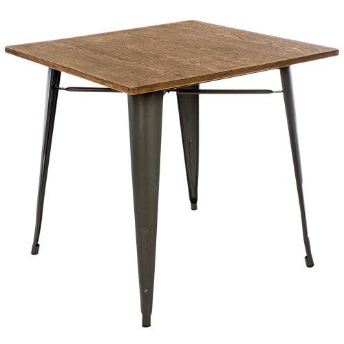 Mesa de acero soho gris de 80x76.5x80 cm