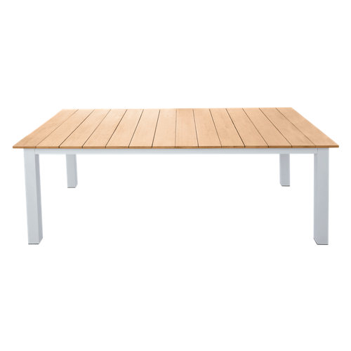 Mesa de jardín de aluminio san diego blanco de 200x75x200 cm
