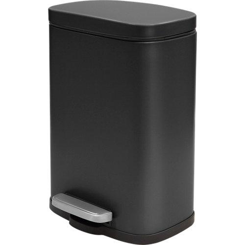 Papelera de baño akira negro 5l