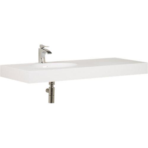 Encimera lavabo neo blanco de 106x10x49 cm