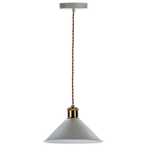 Lámpara de techo amadeo plateada 1 luz