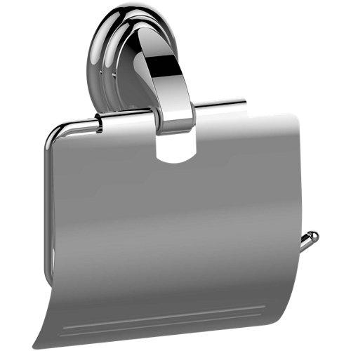 Portarollo wc fresh gris / plata brillante 13.2x14.6x5.3 cm