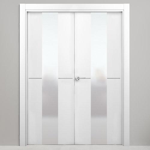 puerta paris blanco de apertura izquierda de 145 cm