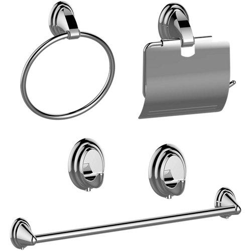 Set accesorios de baño fresh gris / plata