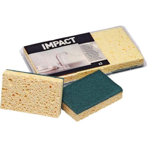 Pack 3 esponjas abrasivas impact