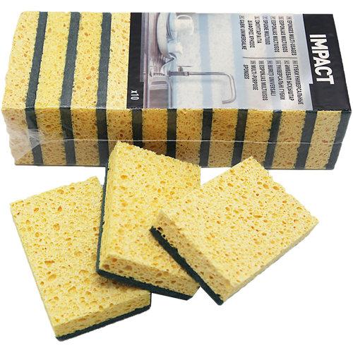 Pack 10 esponjas abrasivas impact